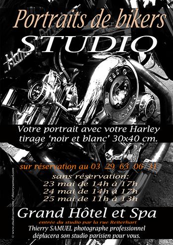 Affiche portraits de bikers Harley Thierry Samuel